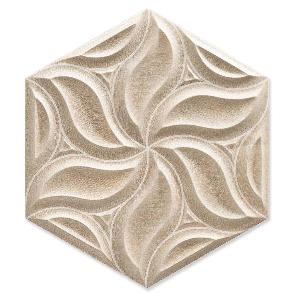 Hexagon Kakel Ivy Beige Matt 25x51 cm