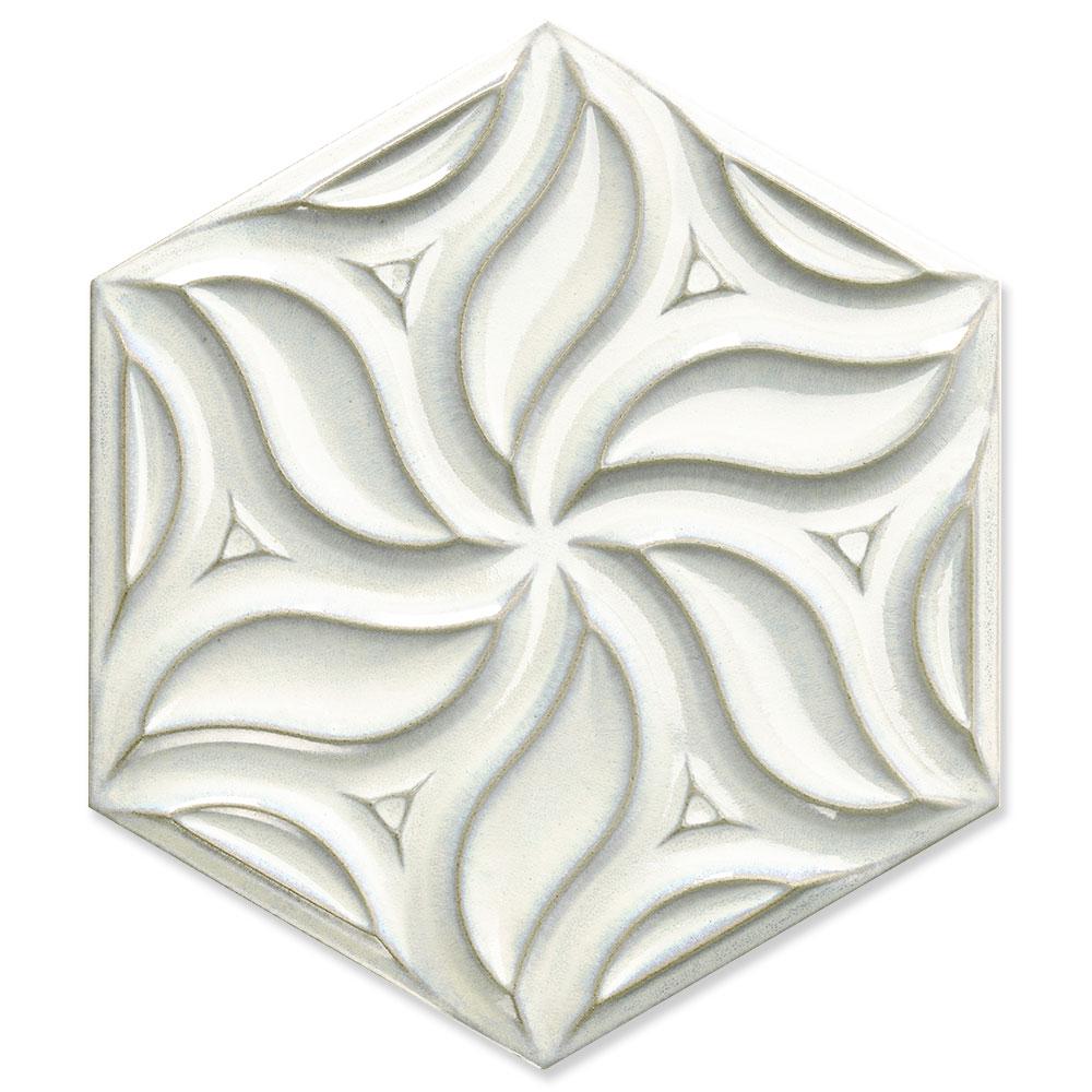 Hexagon Kakel Ivy Vit Blank 25x51 cm