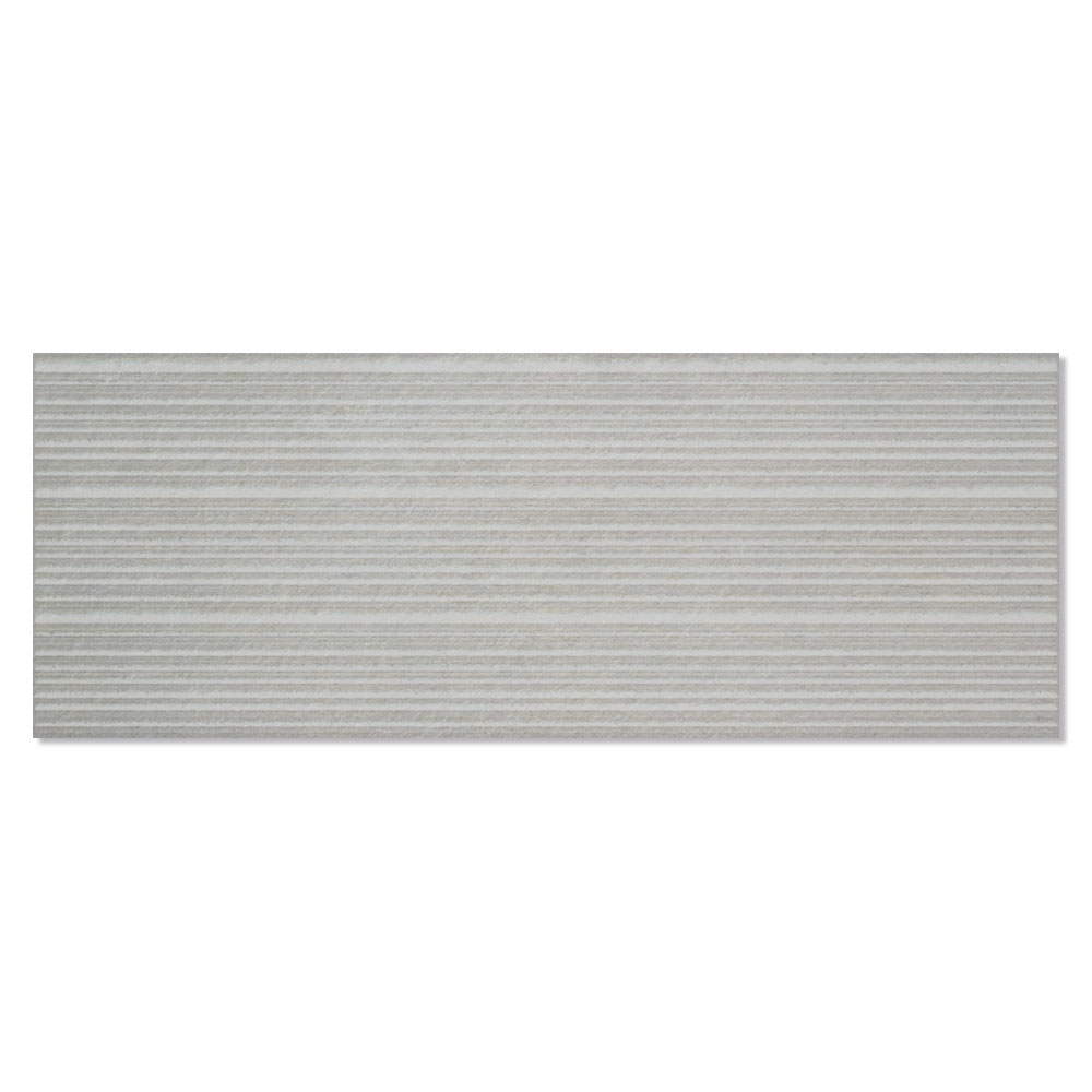 Dekor Metron Grå Matt-Relief 33x90 cm