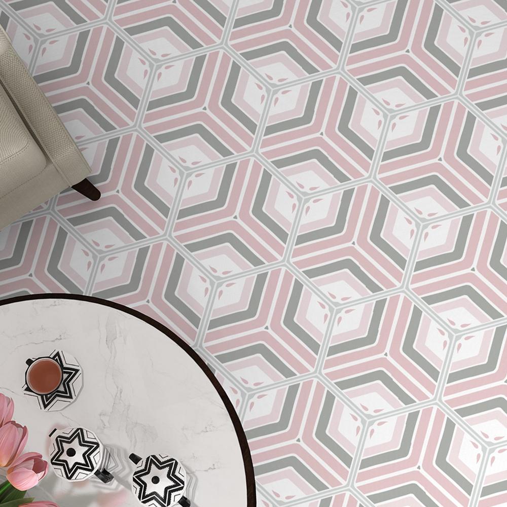 Hexagon Klinker Deza Rosa-Vit 22x25 cm