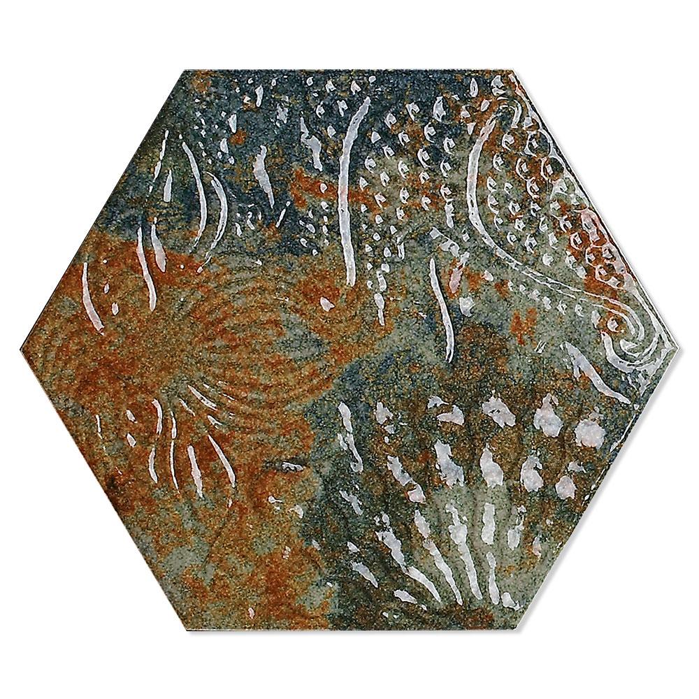 Hexagon Klinker Gaudi Grön 22x25 cm