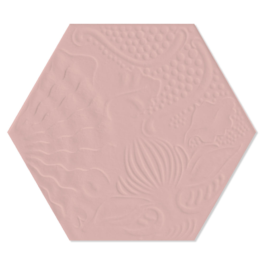 Hexagon Klinker Gaudi Rosa 22x25 cm