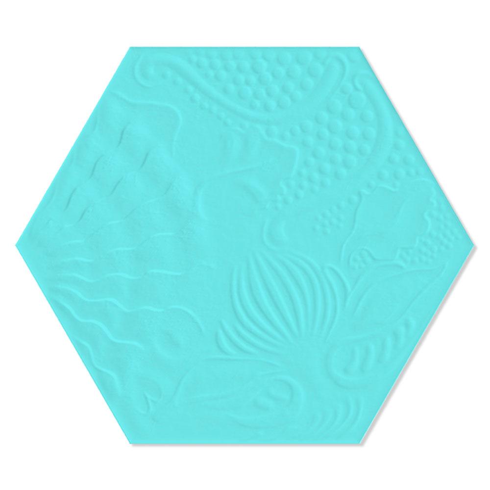Hexagon Klinker Gaudi Turkos 22x25 cm
