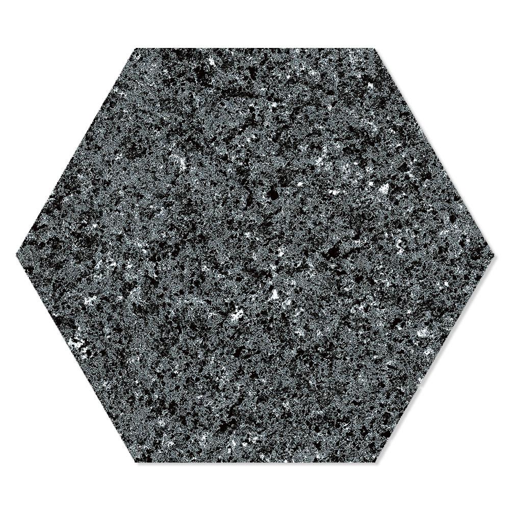 Hexagon Klinker Granite Svart 22x25 cm