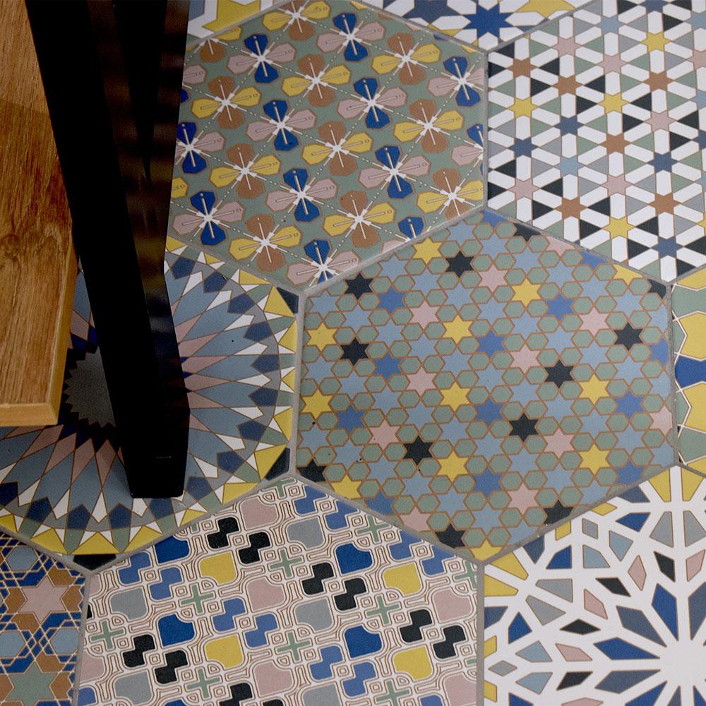 Hexagon Klinker Kasbah Flerfärgad 22x25 cm