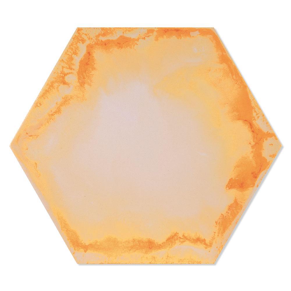 Hexagon Klinker Raktion Flerfärgad 22x25 cm