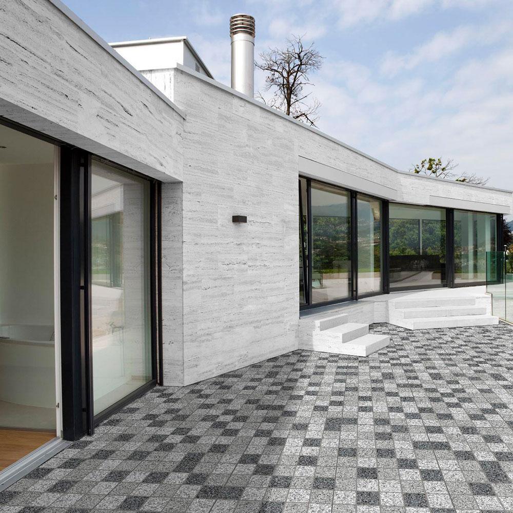 Klinker Granite Mix Grå Mönstrad kvadrater 50x50 cm
