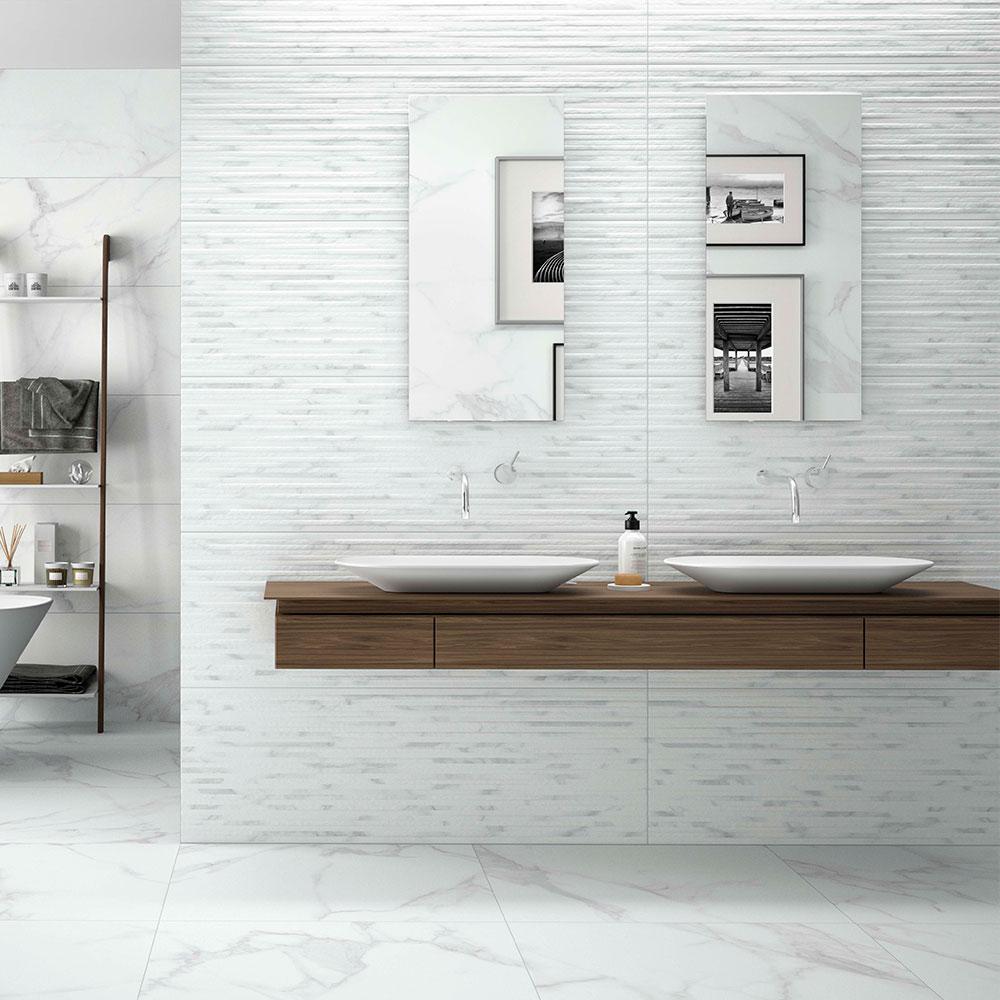 Dekor Marmor Kakel Purity Vit 40x120 cm