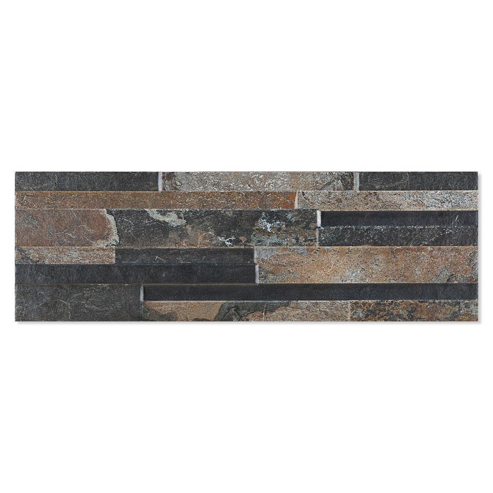 Kakel Berini Svart Matt 17x52 cm