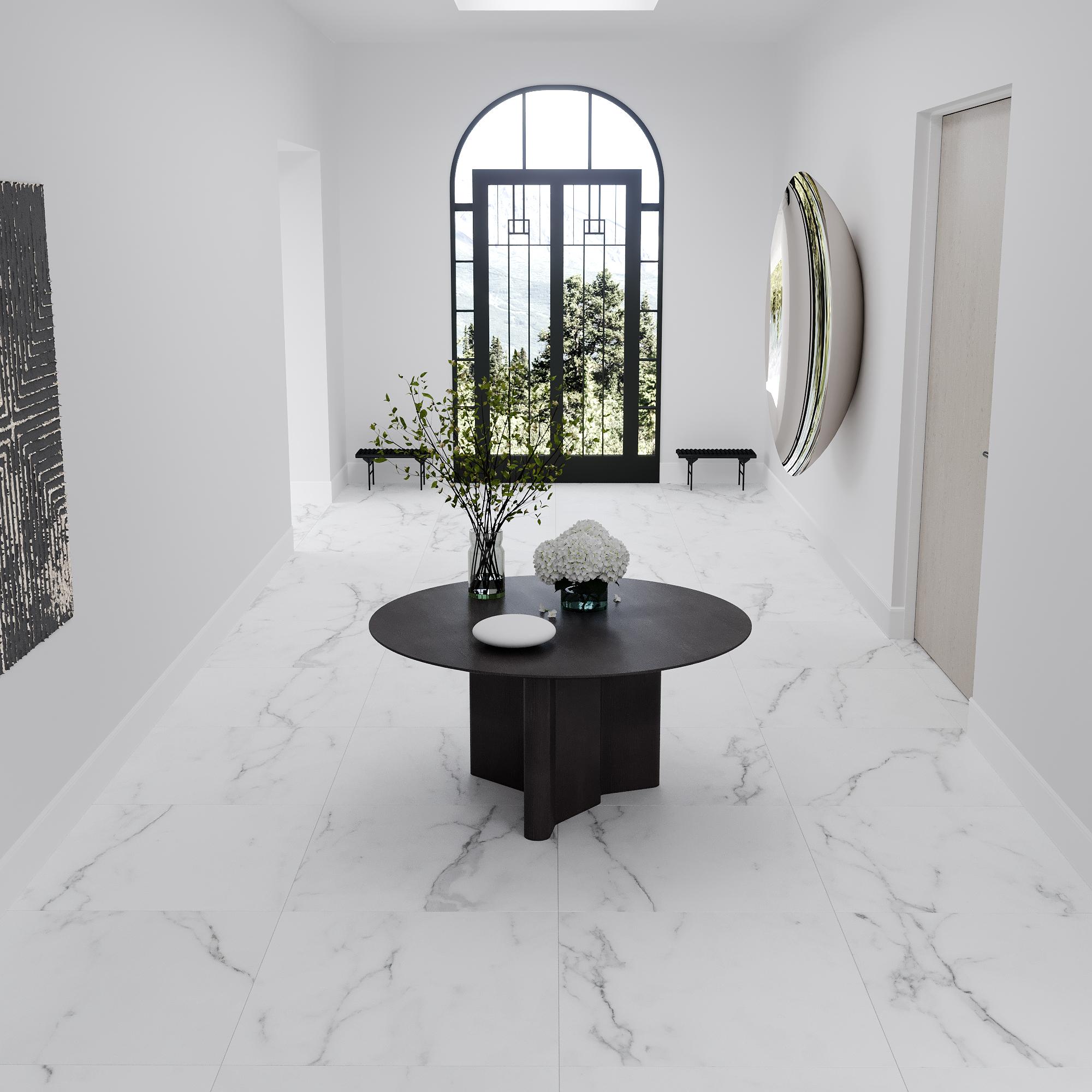 Marmor Klinker Michelangelo Carrara Vit 60x60 cm