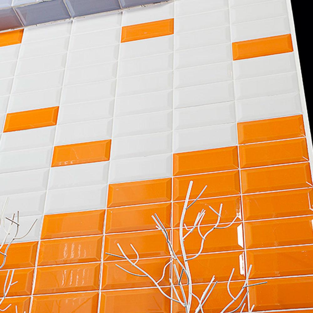 Fasat Kakel Monocolor Orange Ocher Blank 7.5x15 cm