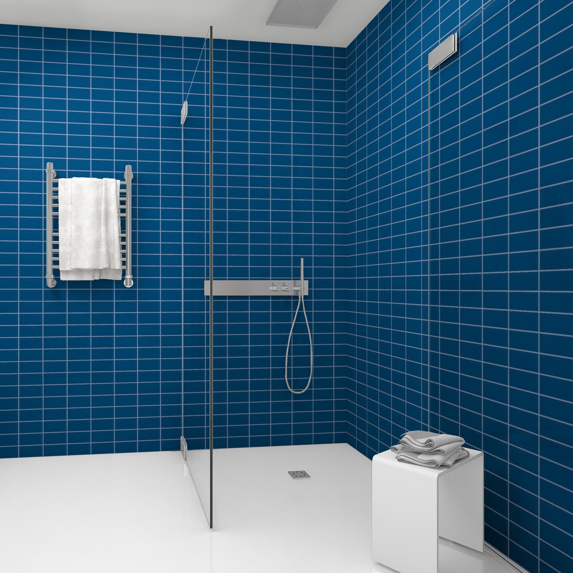 Fasat Kakel Monocolor Blå Sapphire Blank 7.5x15 cm