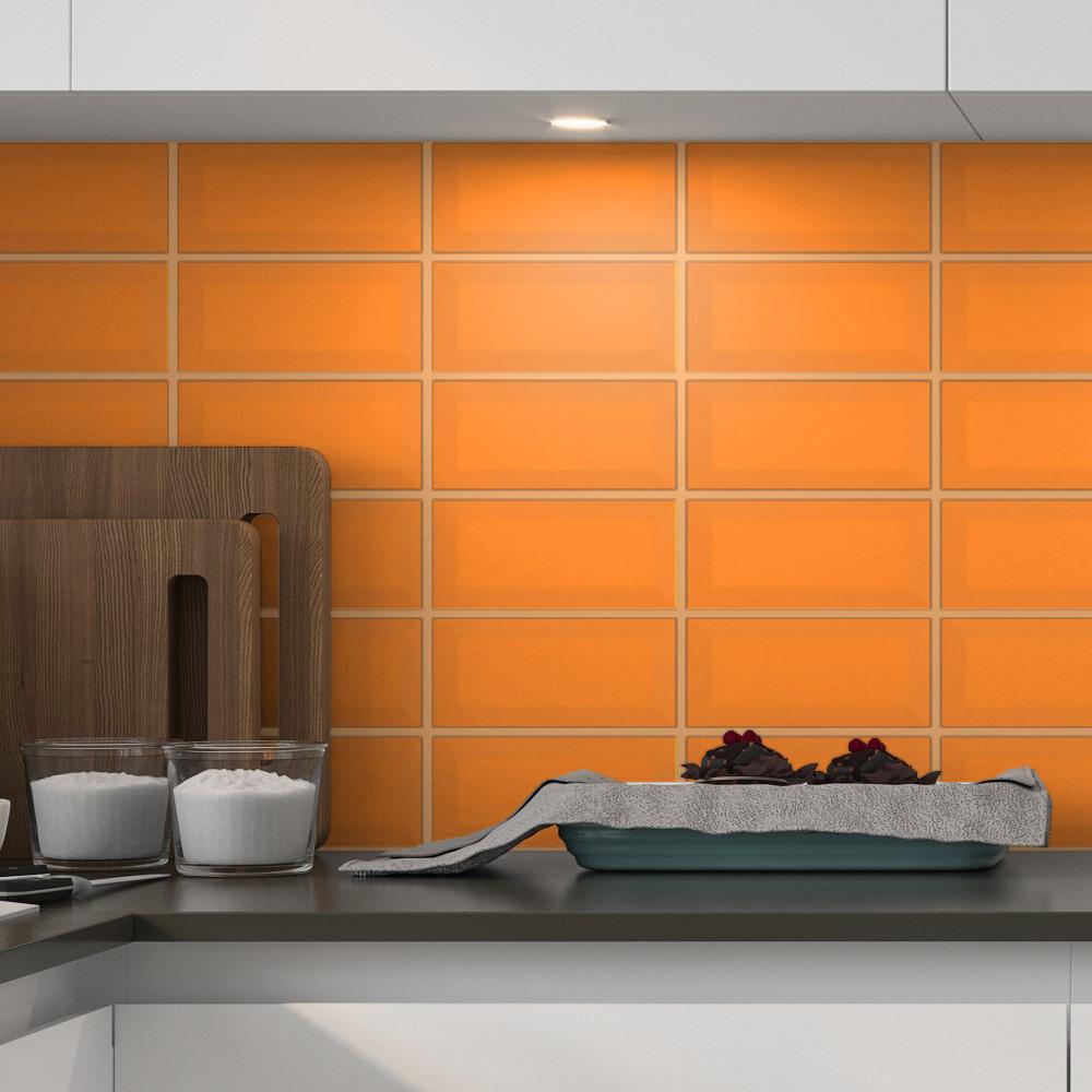 Fasat Kakel Monocolor Orange Matt 10x20 cm