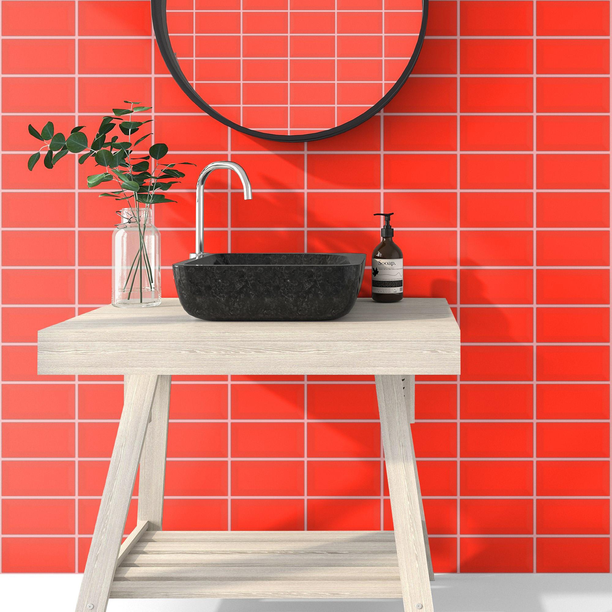 Fasat Kakel Monocolor Röd Matt 10x20 cm