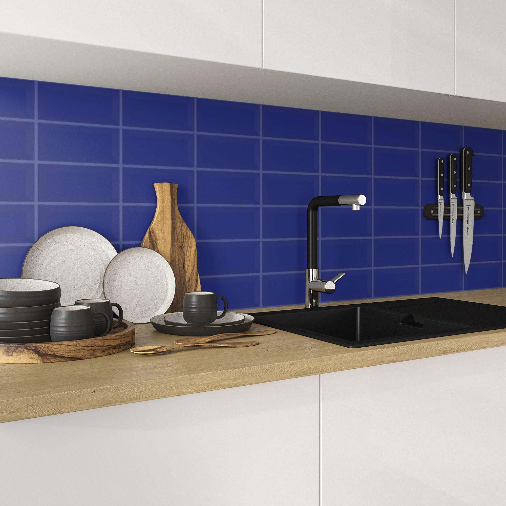 Fasat Kakel Monocolor Blå Cobalt Matt 10x20 cm