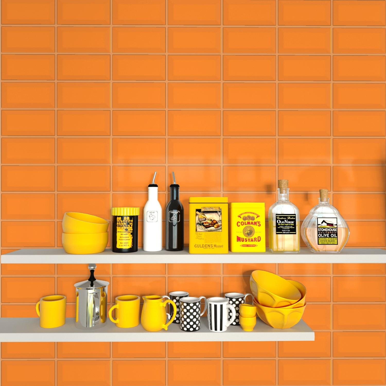 Fasat Kakel Monocolor Orange Blank 10x20 cm