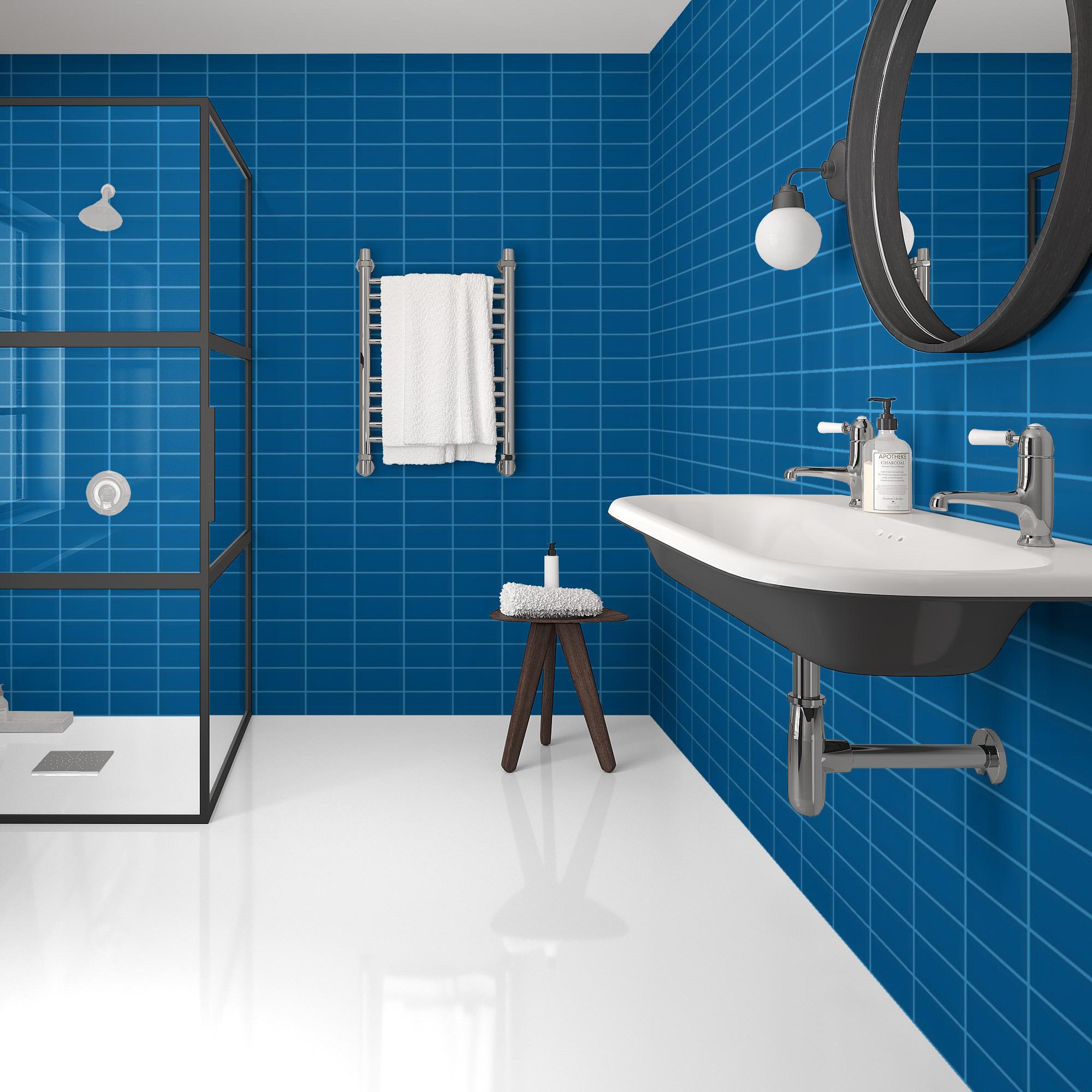 Fasat Kakel Monocolor Blå Sapphire Blank 10x20 cm