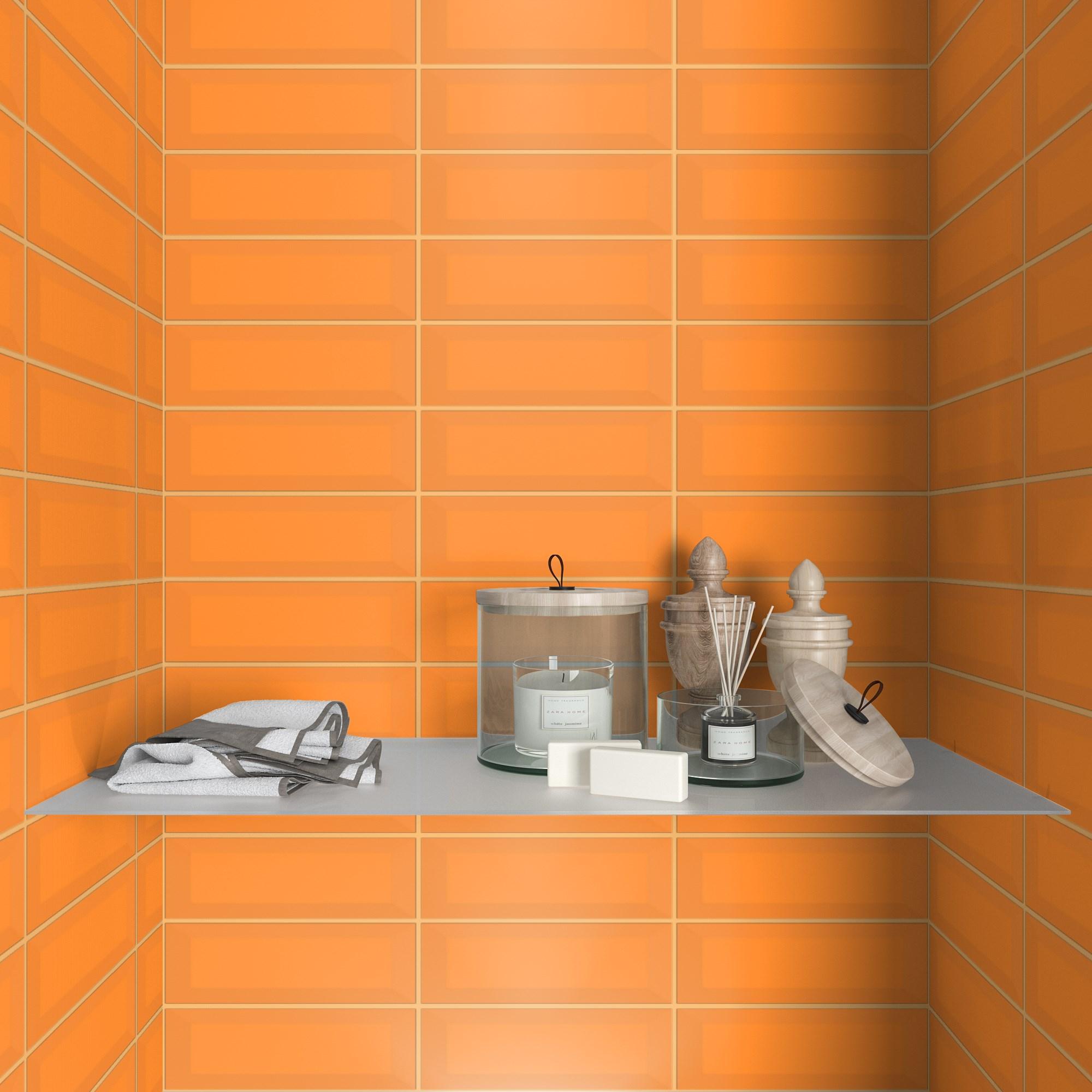 Fasat Kakel Monocolor Orange Matt 10x30 cm