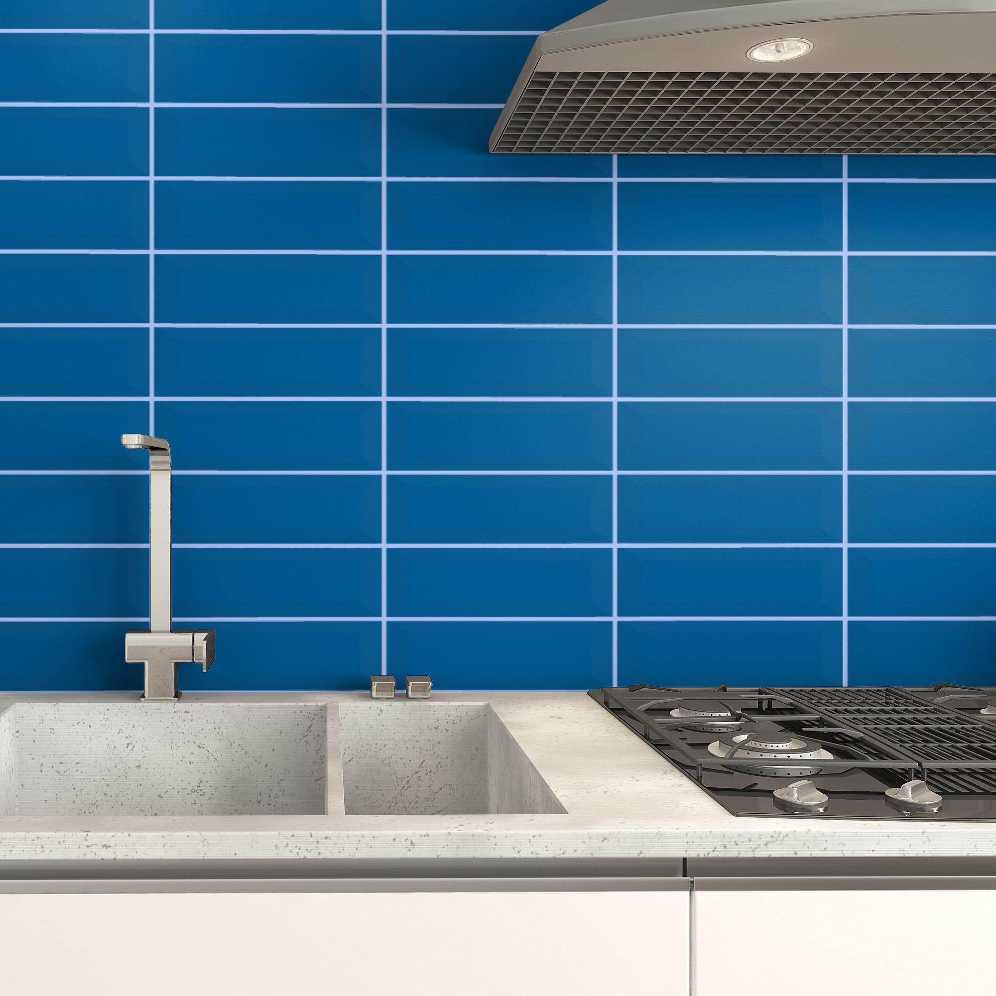 Fasat Kakel Monocolor Blå Sapphire Matt 10x30 cm