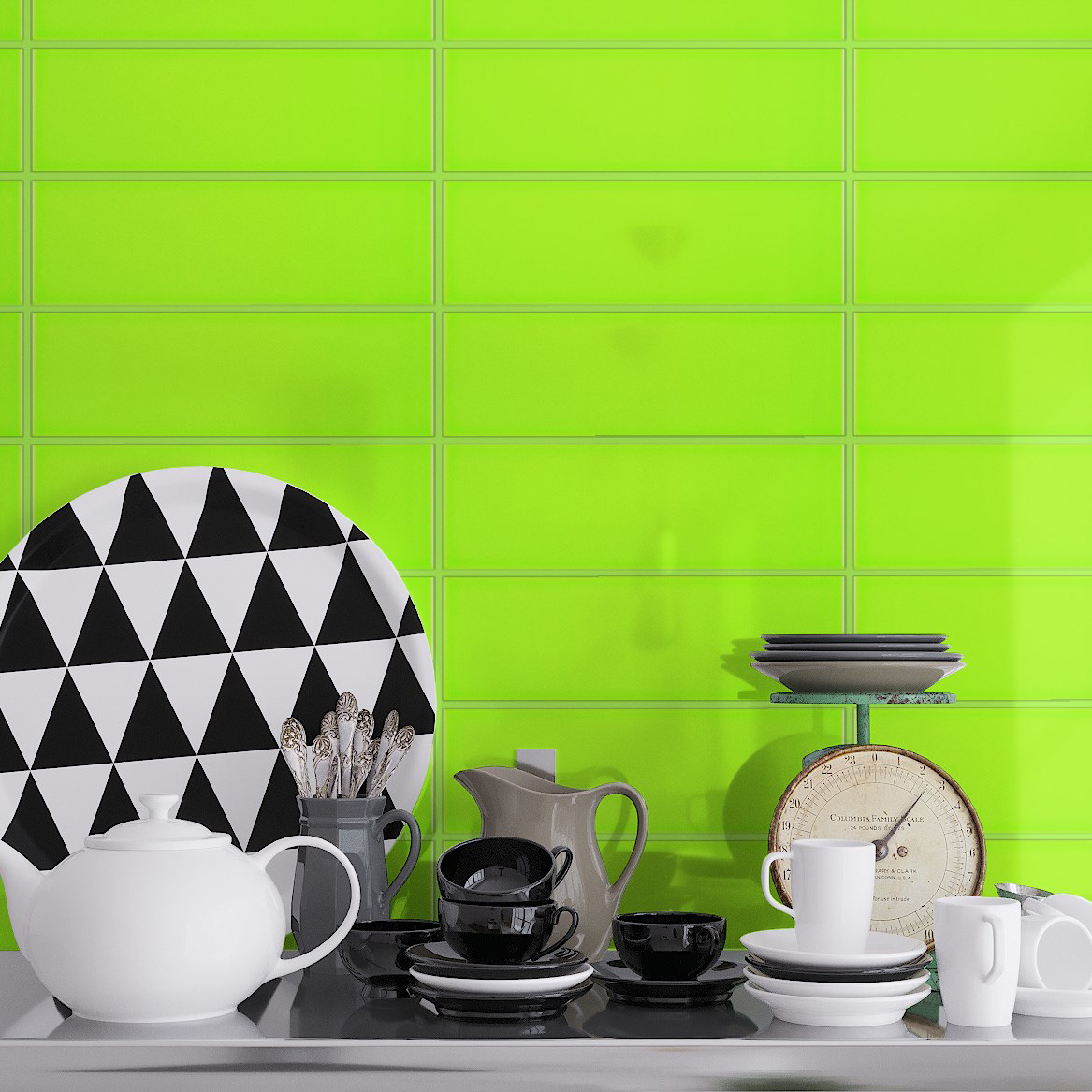 Fasat Kakel Monocolor Grön Pistachio Blank 10x30 cm