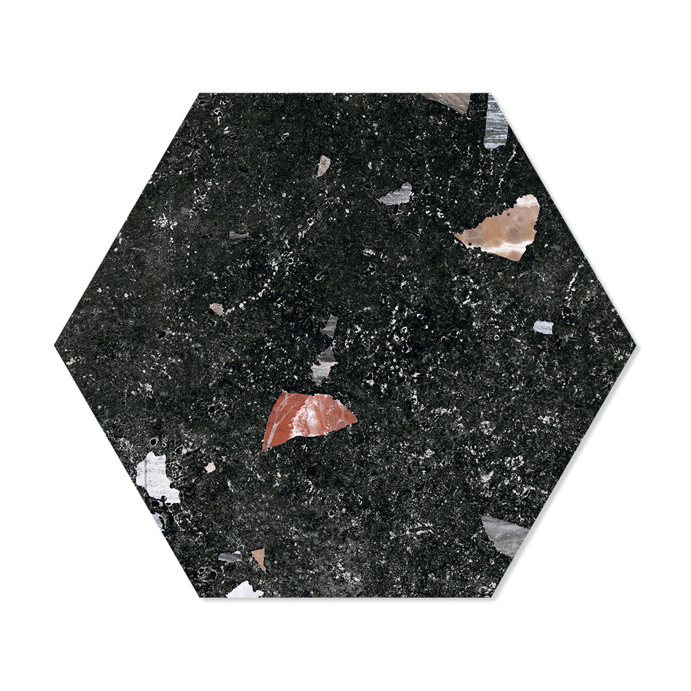 Hexagon Klinker Sonar Svart 22x25 cm