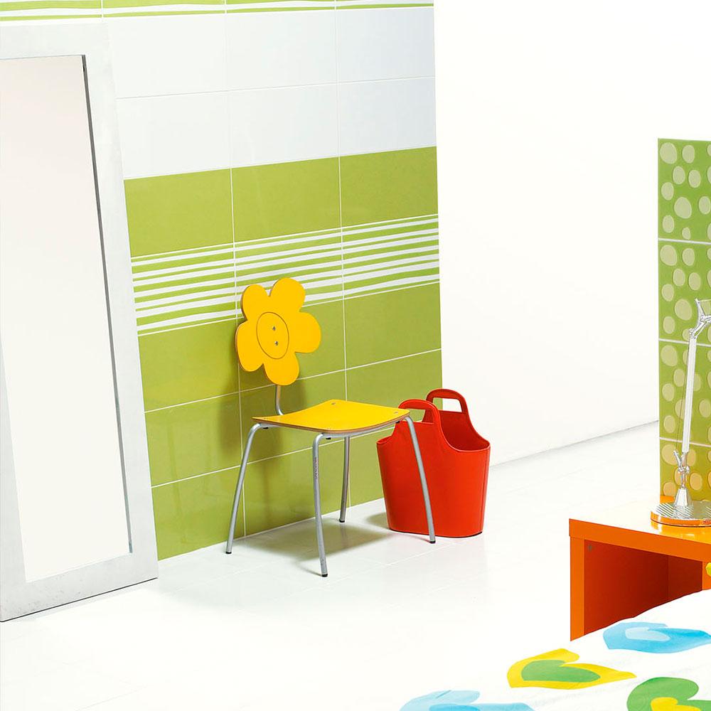 Kakel Amelia Grön Blank 25x50 cm