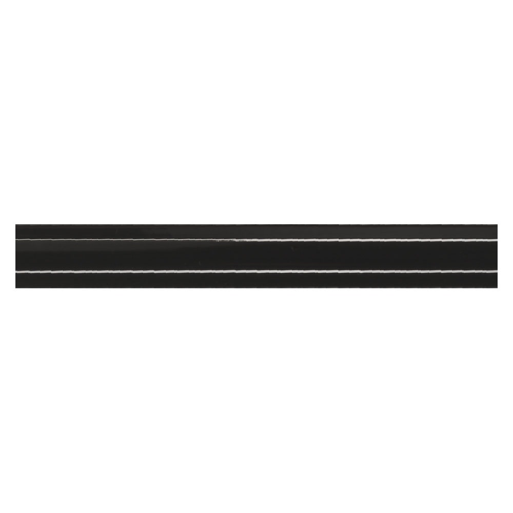 Dekor Kakel New York Svart Blank 2x15 cm