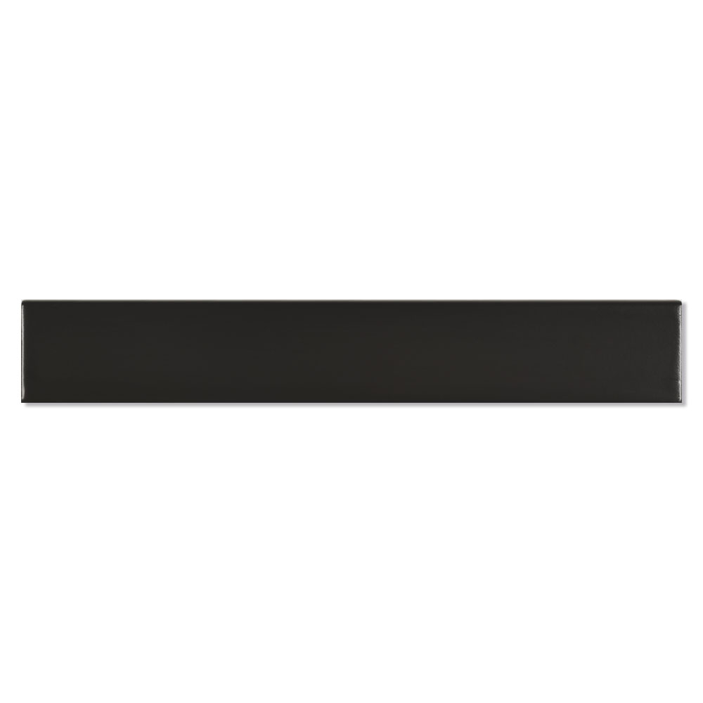 Dekor Kakel New York Svart Blank 5x30 cm
