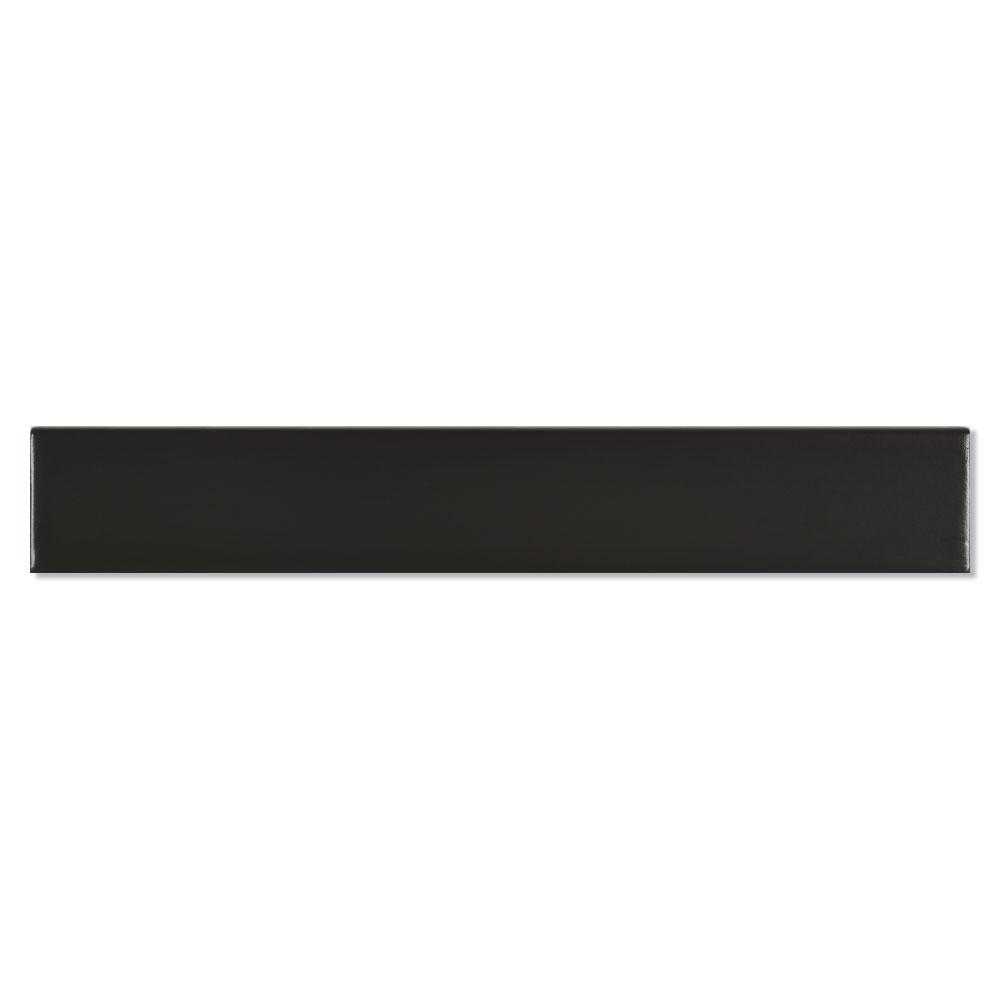 Dekor Kakel New York Svart Matt 5x30 cm