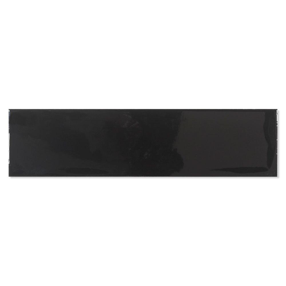 Kakel Alborán Svart Blank 8x30 cm