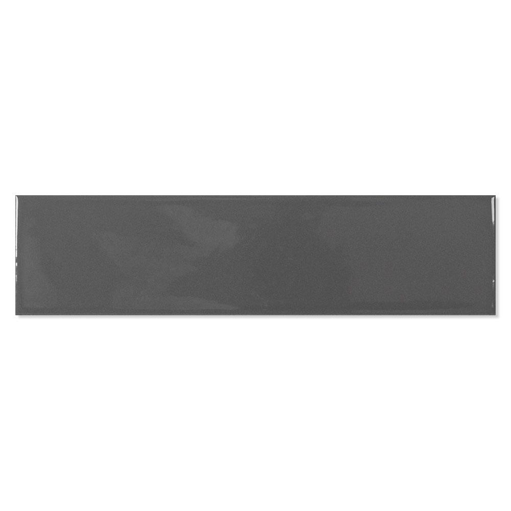 Kakel Alborán Mörkgrå Blank 8x30 cm