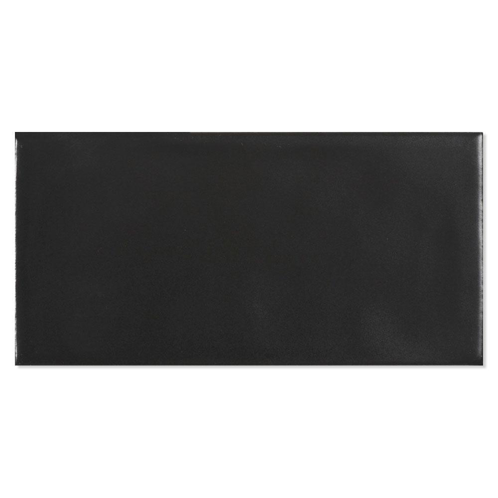 Kakel Alborán Svart Blank 8x15 cm