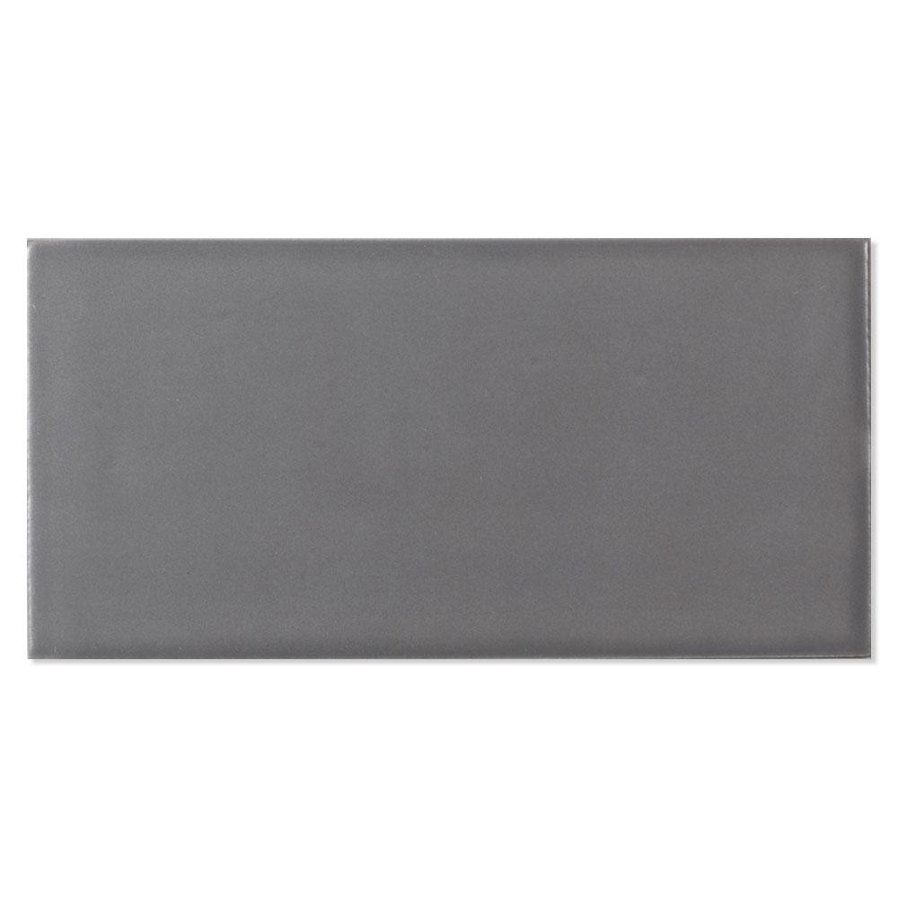 Kakel Alborán Mörkgrå Blank 8x15 cm