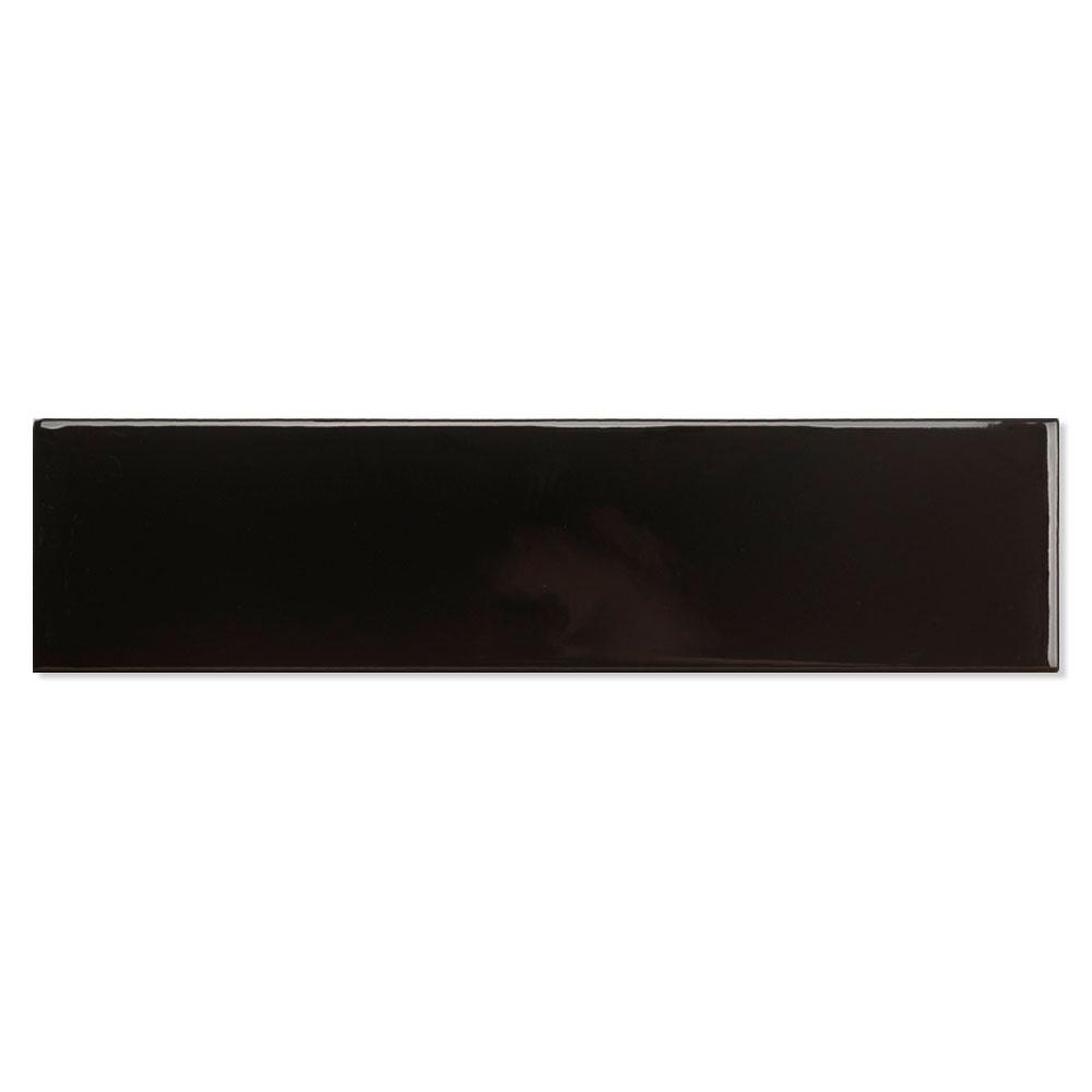 Kakel Beaune Svart Blank 8x30 cm