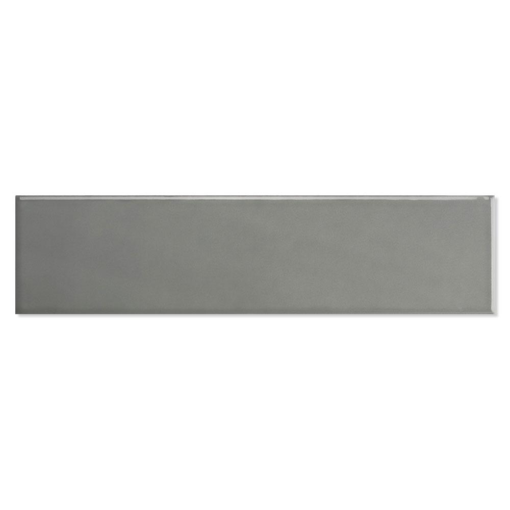 Kakel Beaune Antracita Grå Blank 8x30 cm