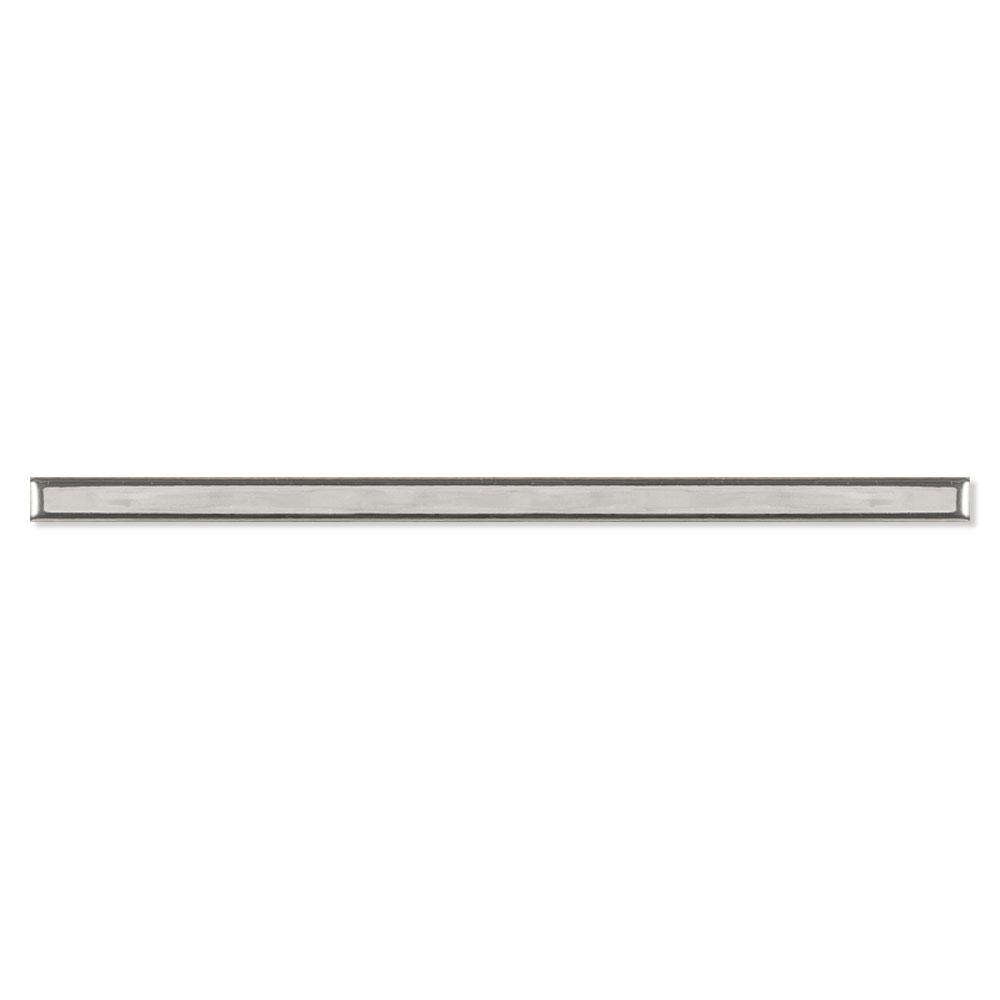 Dekor Kakel Beaune Ljusgrå Blank 2x30 cm