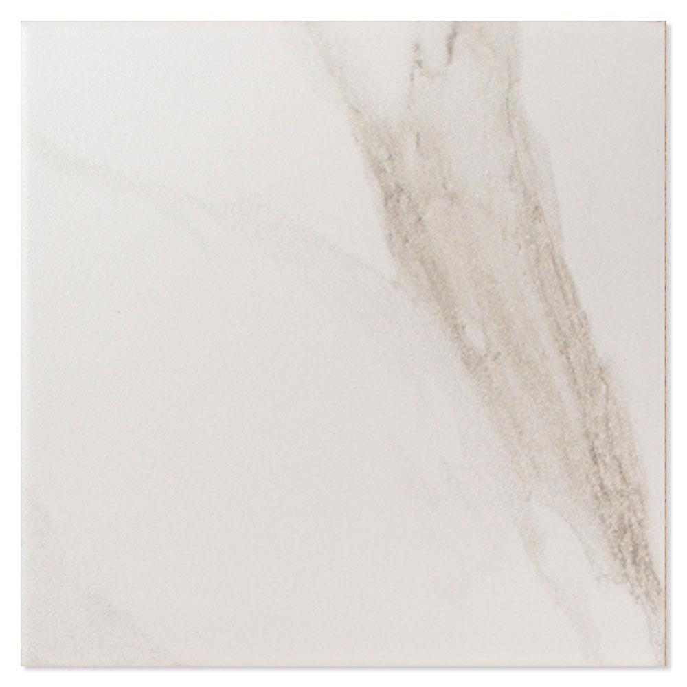 Dekor Marmor Klinker Viktoriano Vit Matt 8x8 cm