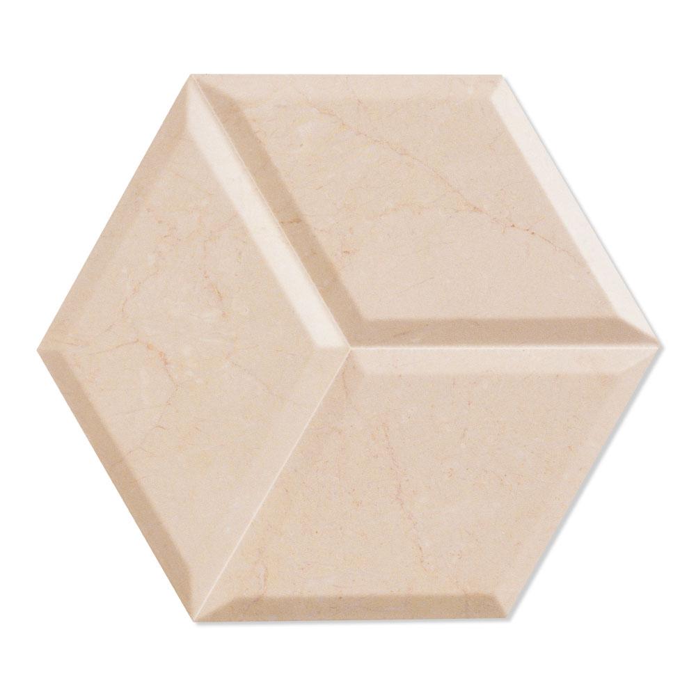 Dekor Marmor Kakel Zaire Beige Matt-Relief 29x33 cm