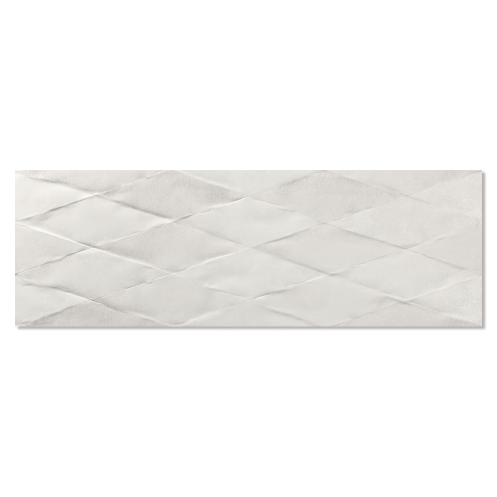 Dekor Kakel Cornwall Vit Matt-Relief 30x90 cm