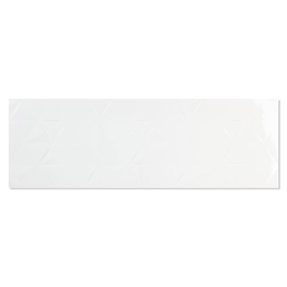 Kakel Bianchi Axe Vit Blank-Relief 33x100 cm