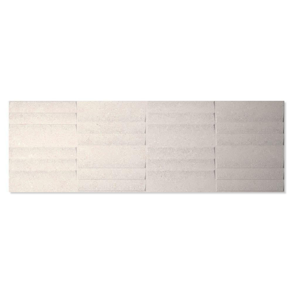 Dekor Kakel Berryroad Wall Vit Matt-Relief 30x90 cm