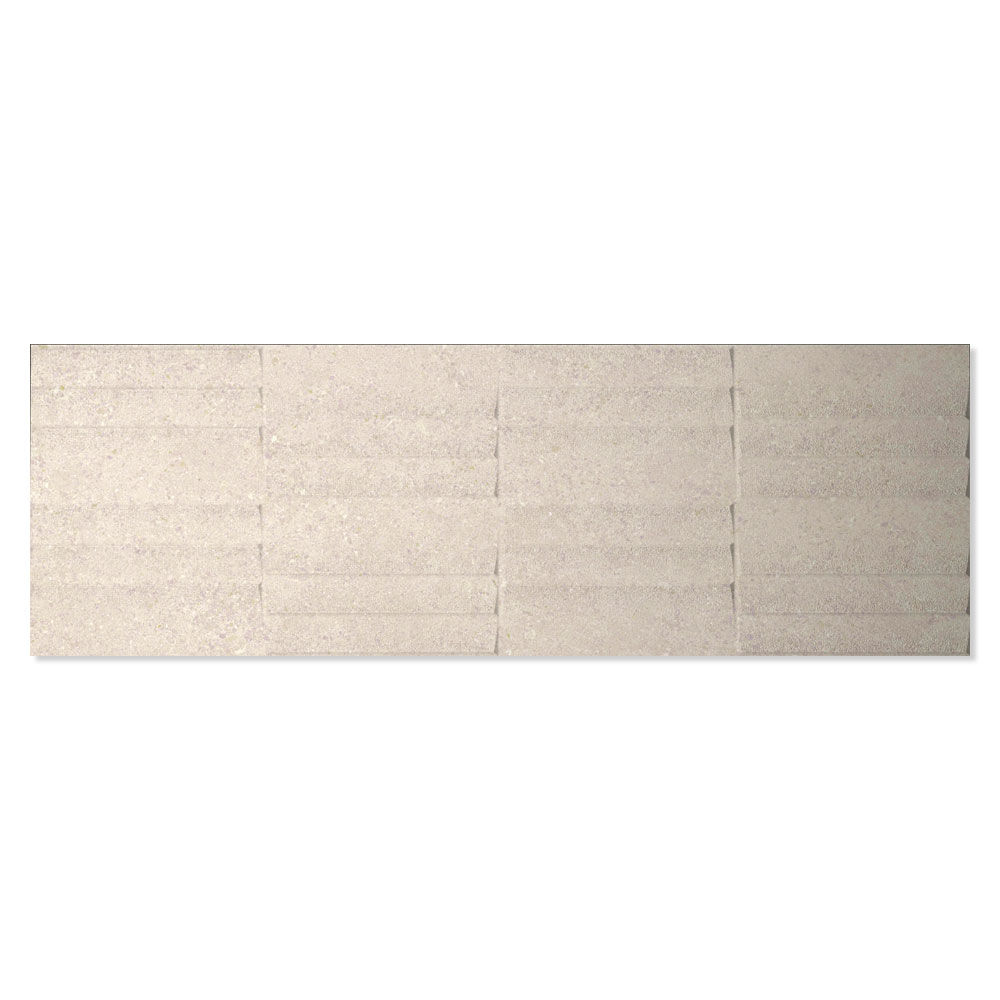 Dekor Kakel Berryroad Wall Beige Matt-Relief  30x90 cm