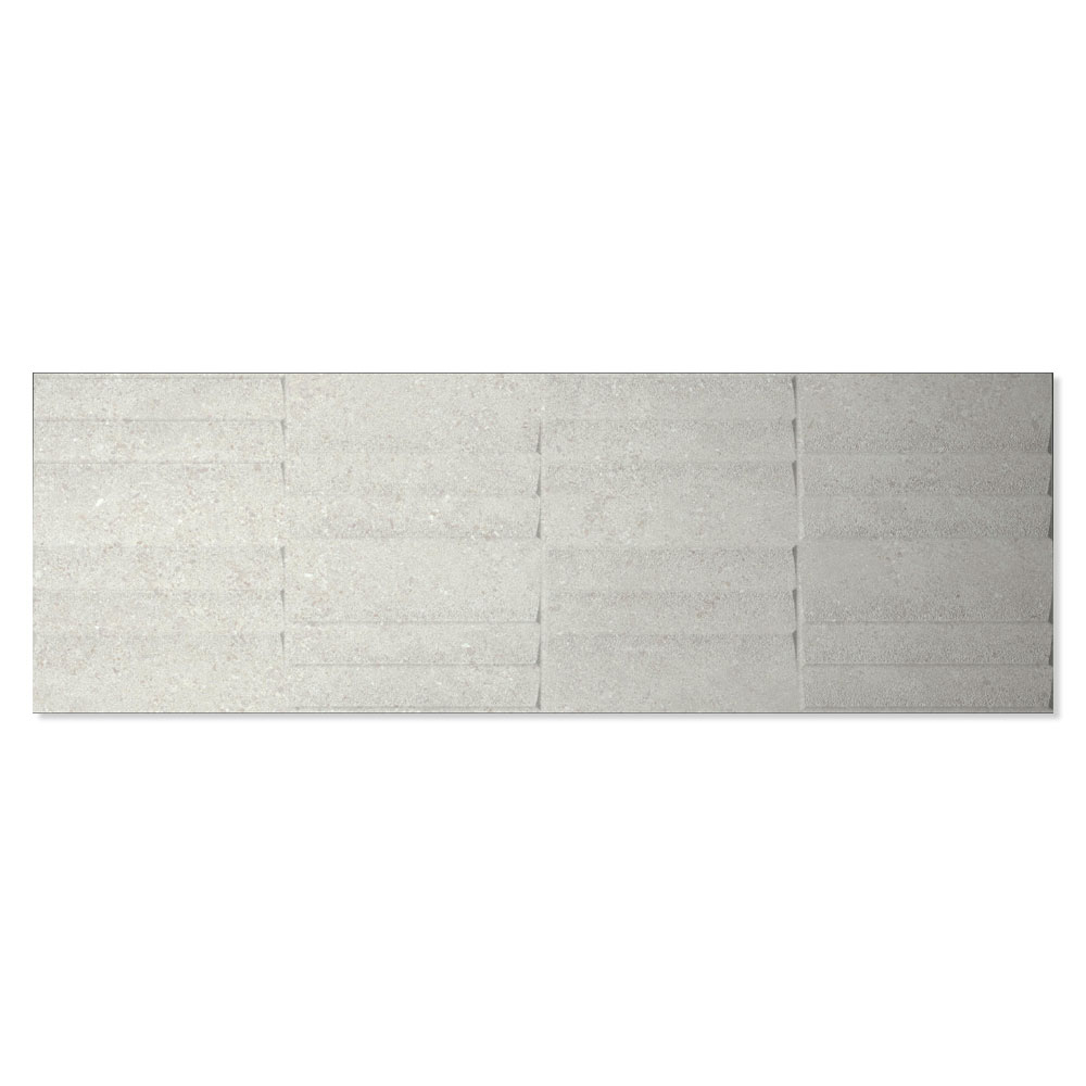 Dekor Kakel Berryroad Wall Ljusgrå Matt-Relief  30x90 cm