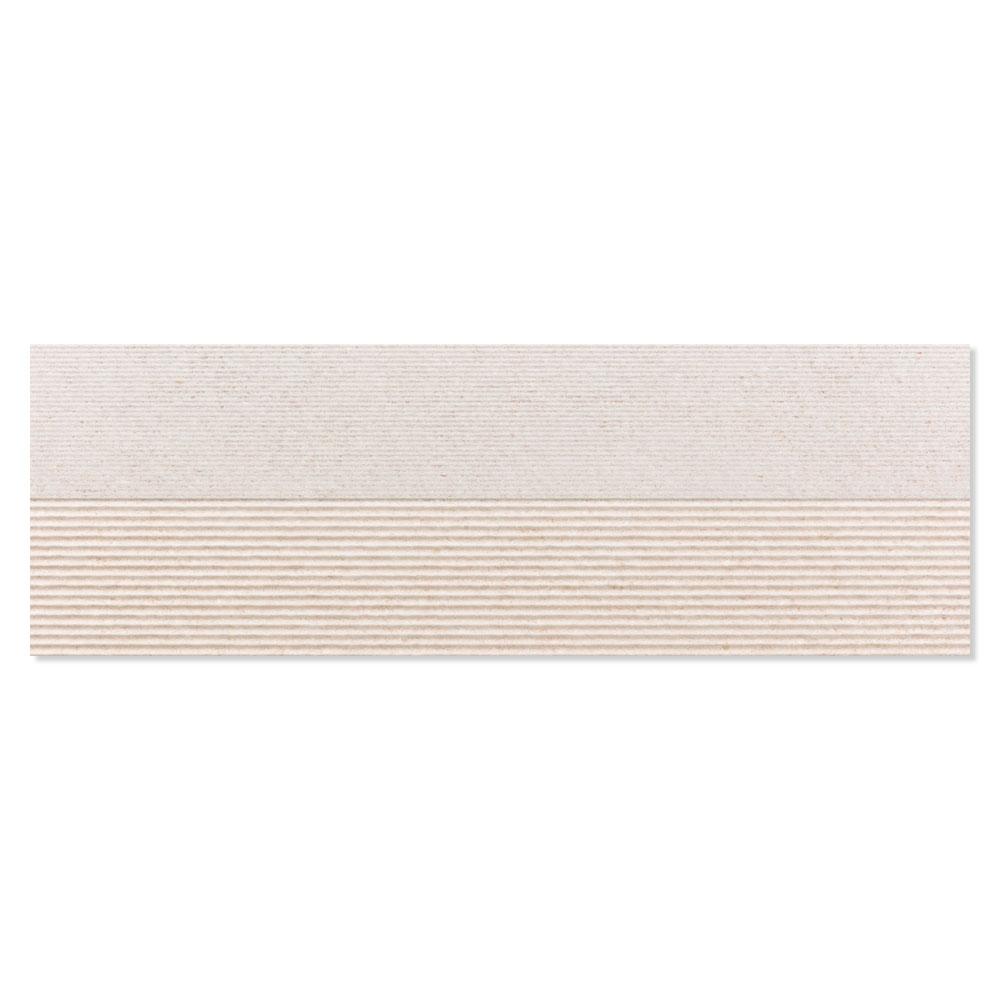 Dekor Kakel Berryroad Wall Vit Mix Matt-Relief  30x90 cm