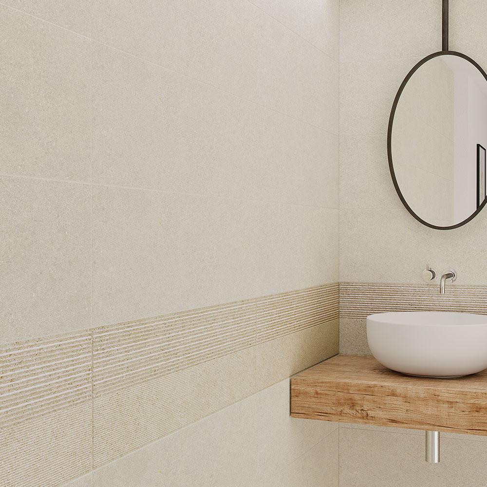 Dekor Kakel Berryroad Wall Gul Matt-Relief  30x90 cm