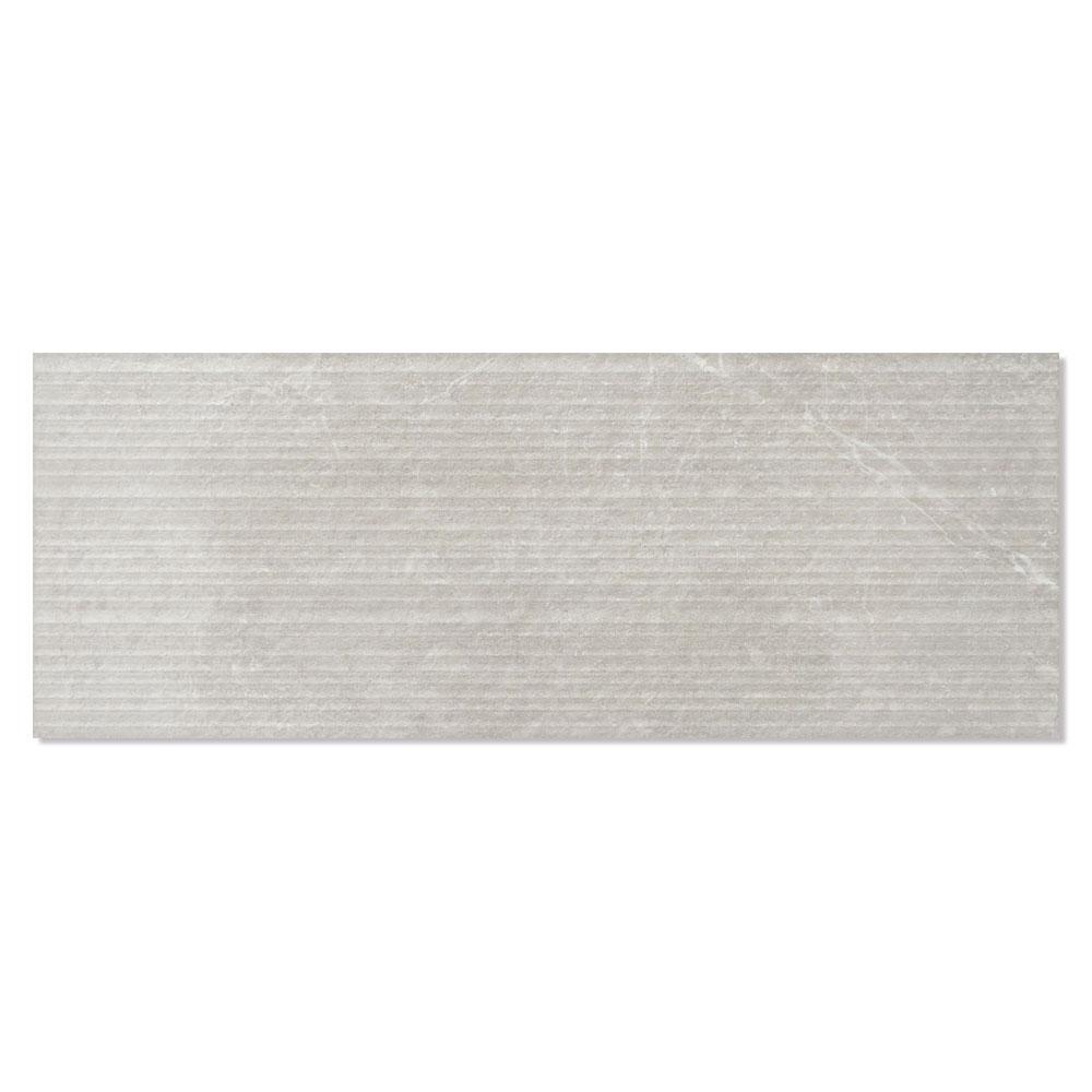 Dekor Kakel Kinnekulle Matt-Relief Ljusgrå 33x90 cm