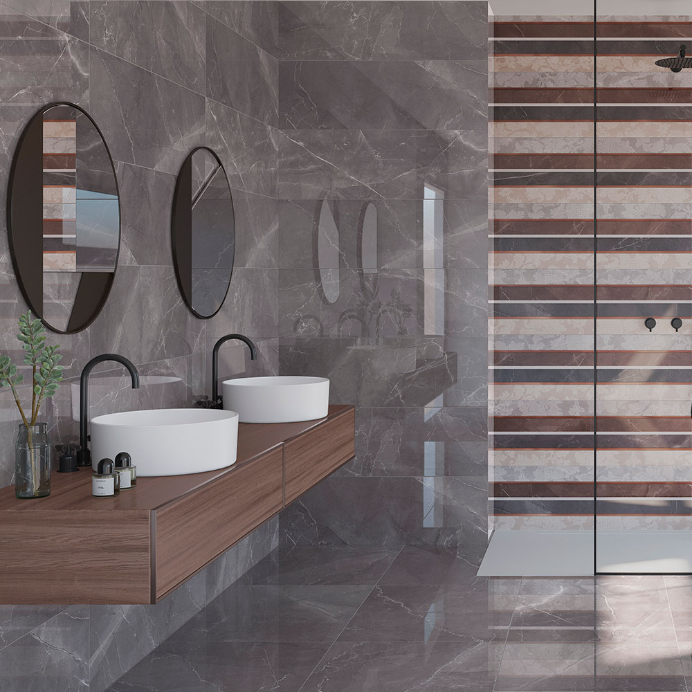 Dekor Kakel Marbella Flerfärgad Blank 33x100 cm