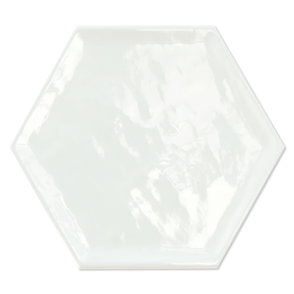 Hexagon Klinker Luxe Basic Vit Blank 20x23 cm